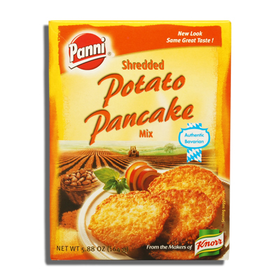 Panni Shredded Potato Pancake Mix. Makes 24 (3 inch) pancakes. 5.88 oz ...