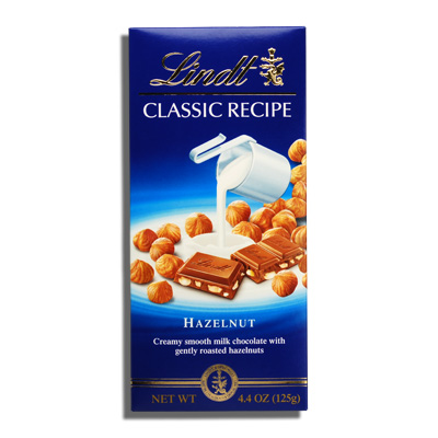 Made from Swiss Milk Chocolate with Gently Roasted Hazelnuts. 3.5 oz ...