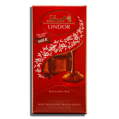 LINDT, LINDOR MILK CHOCOLATE WITH A SMOOTH FILLING