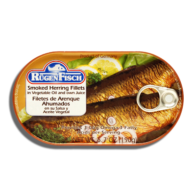 Rugenfisch smoked herring fillets bende inc for Smoked herring fish