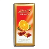LINDT, MILK CHOCOLATE WITH ORANGE FILLING