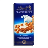 LINDT, MILK CHOCOLATE WITH WHOLE HAZELNUTS