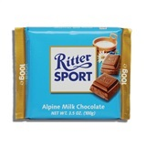 RITTER, ALPINE MILK CHOCOLATE