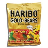 HARIBO, GOLD-BEARS GUMMI CANDY