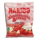 HARIBO, STRAWBERRIES & CREAM GUMMI CANDY