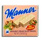 MANNER, HAZELNUT CREAM FILLED WAFERS