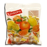 UNICORN, LEMON ORANGE FILLED CANDY