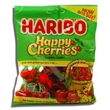 HARIBO, TWIN CHERRIES GUMMI CANDY