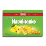 KRAS, NAPOLITANKE LEMON ORANGE CREAM WAFERS