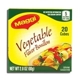 MAGGI, VEGETABLE BOUILLON 20CT