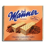MANNER, CHOCOLATE CREAM FILLED WAFERS