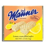 MANNER, LEMON CREAM FILLED WAFERS