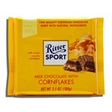 RITTER, MILK CHOCOLATE WITH CORN FLAKES