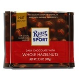 RITTER, DARK CHOCOLATE WITH WHOLE HAZELNUTS