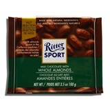 RITTER, MILK CHOCOLATE WITH WHOLE ALMONDS