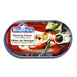 RUGENFISCH, HERRING FILLETS IN HOT TOMATO SAUCE