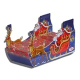 ASSORTED CHRISTMAS CANDY & CHOCOLATE IN SLEIGH SHAPED BOX